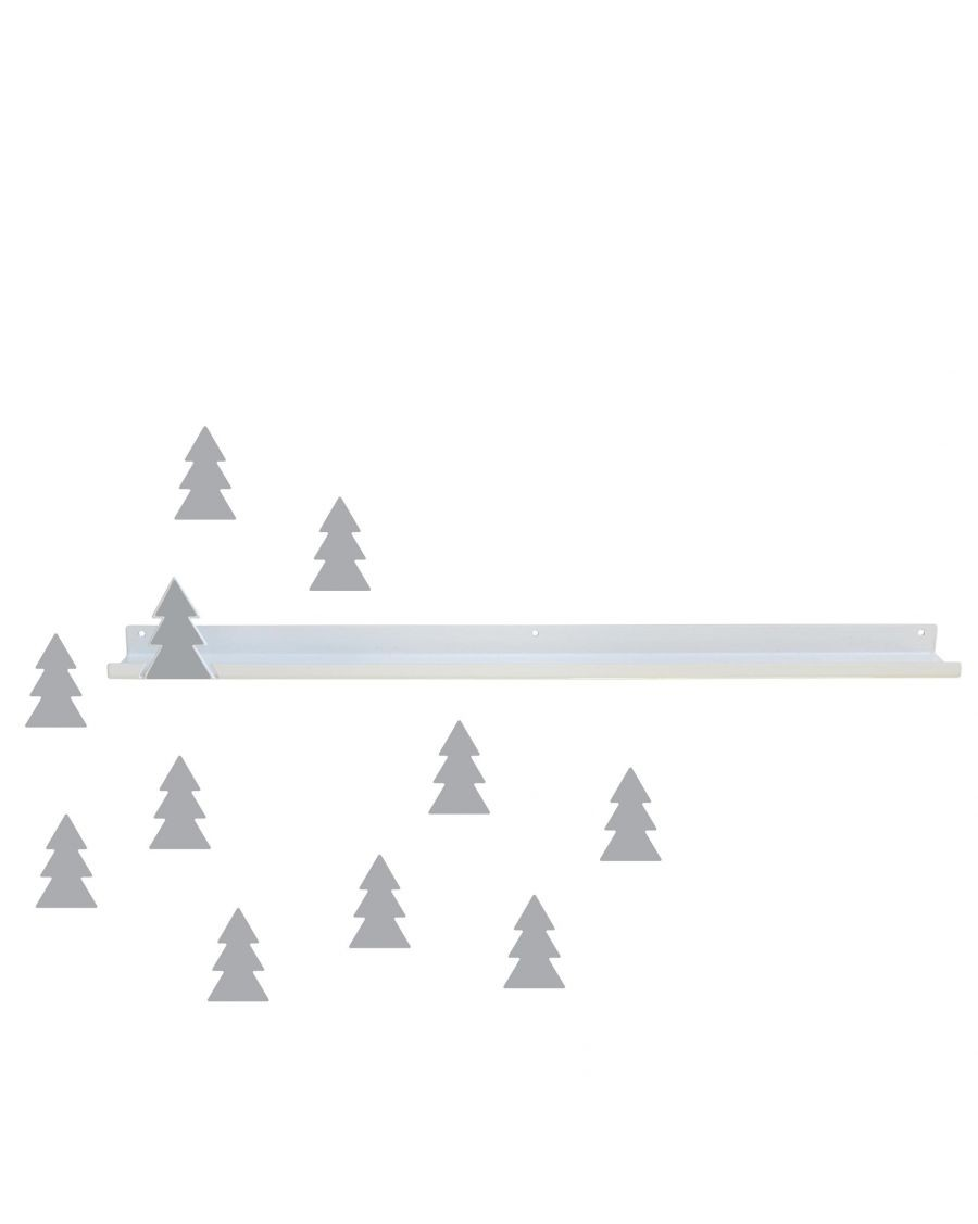 Long shelf & grey fir trees stickers - tresxics - mylowonders