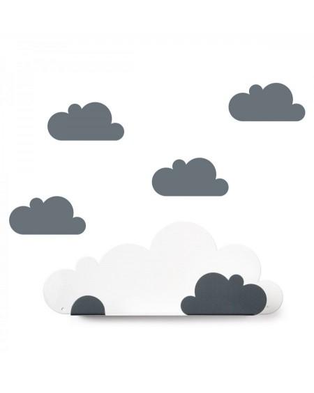 Etagère nuage & stickers gris - tresxics - mylowonders