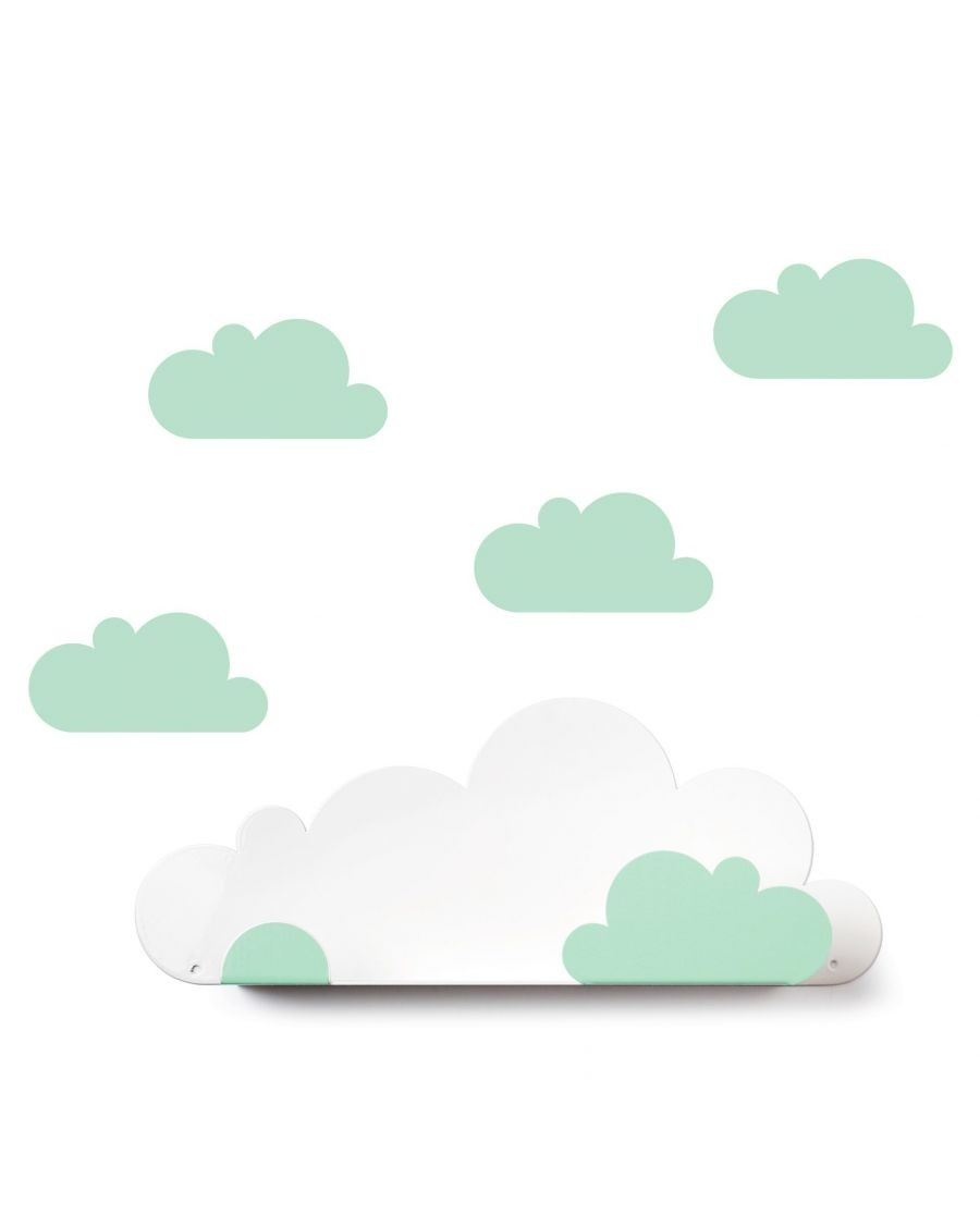 Shelf cloud & mint cloud stickers - tresxics - mylowonders