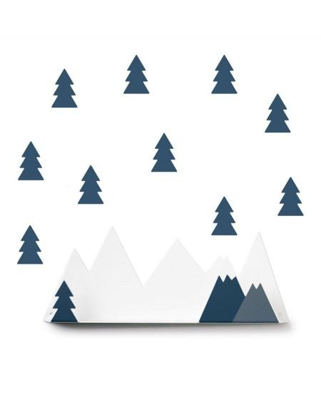 Shelf mountain & oil blue fir stickers - tresxics - mylowonders