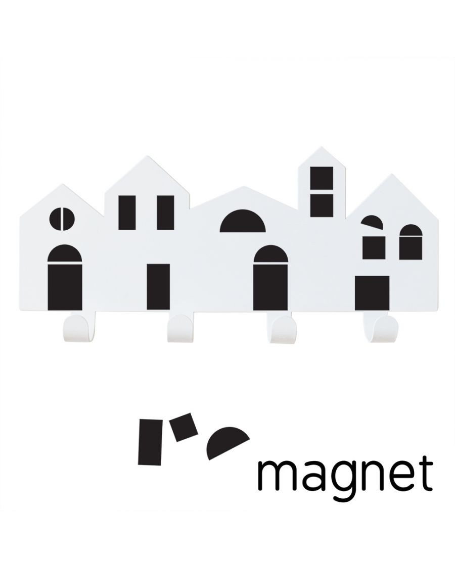 Porte-manteaux Village avec magnets - tresxics - mylowonders