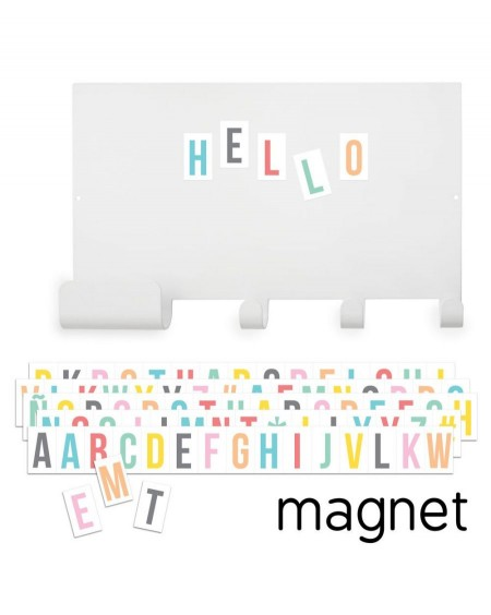 Magnet note board hook and multicolour letters - tresxics - mylowonders