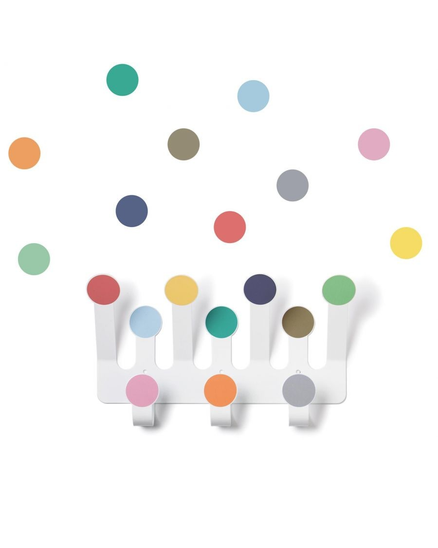 Coat rack with colour dots stickers - tresxics - mylowonders