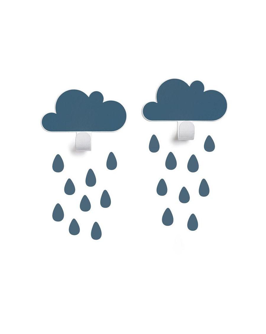 Patères nuages & stickers gouttes - bleu - tresxics - MyloWonders