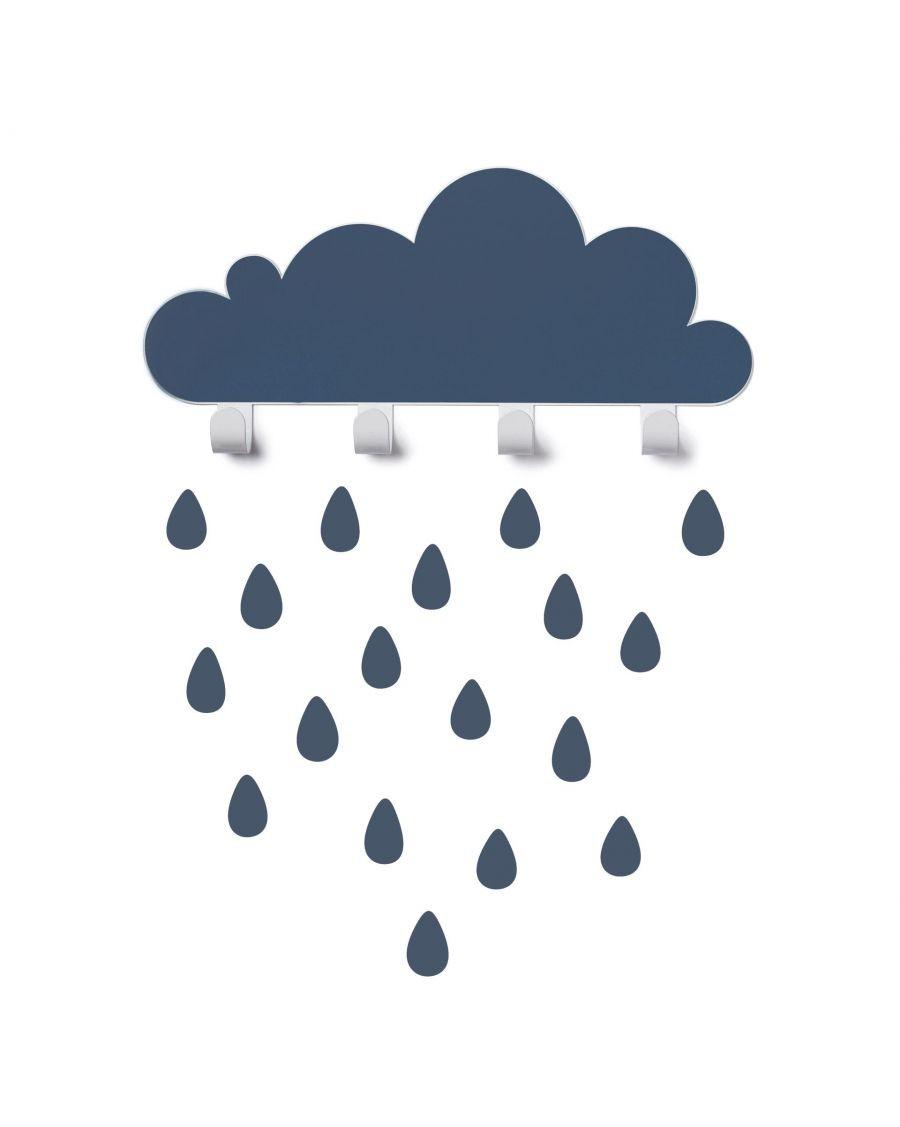 Portemanteau nuage & stickers gouttes - bleu - tresxics - MyloWonders
