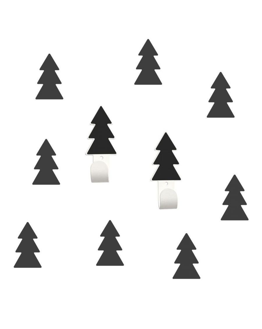 Patères & stickers sapin - noir - tresxics - MyloWonders