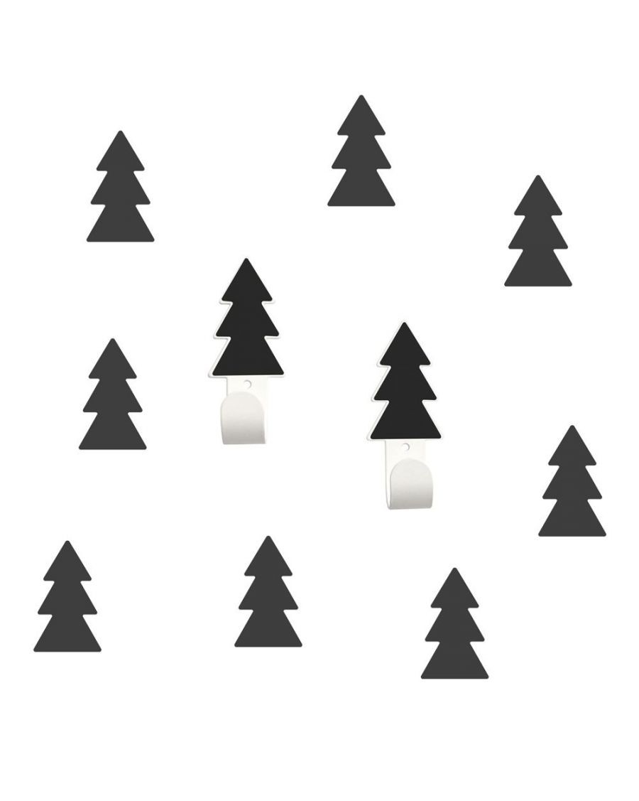 Wall hangers black fir trees with stickers - tresxics - MyloWonders