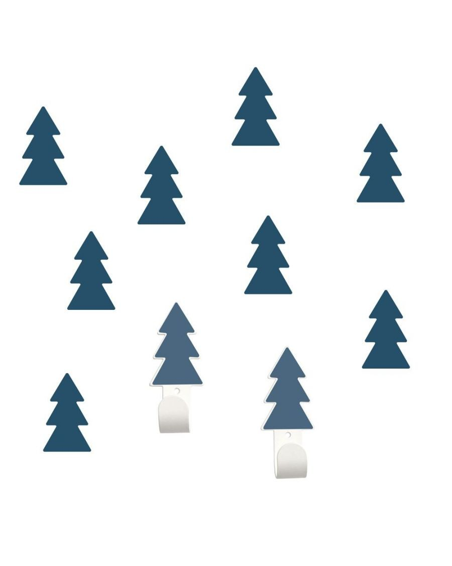 Wall hangers blue fir trees with stickers - tresxics - MyloWonders