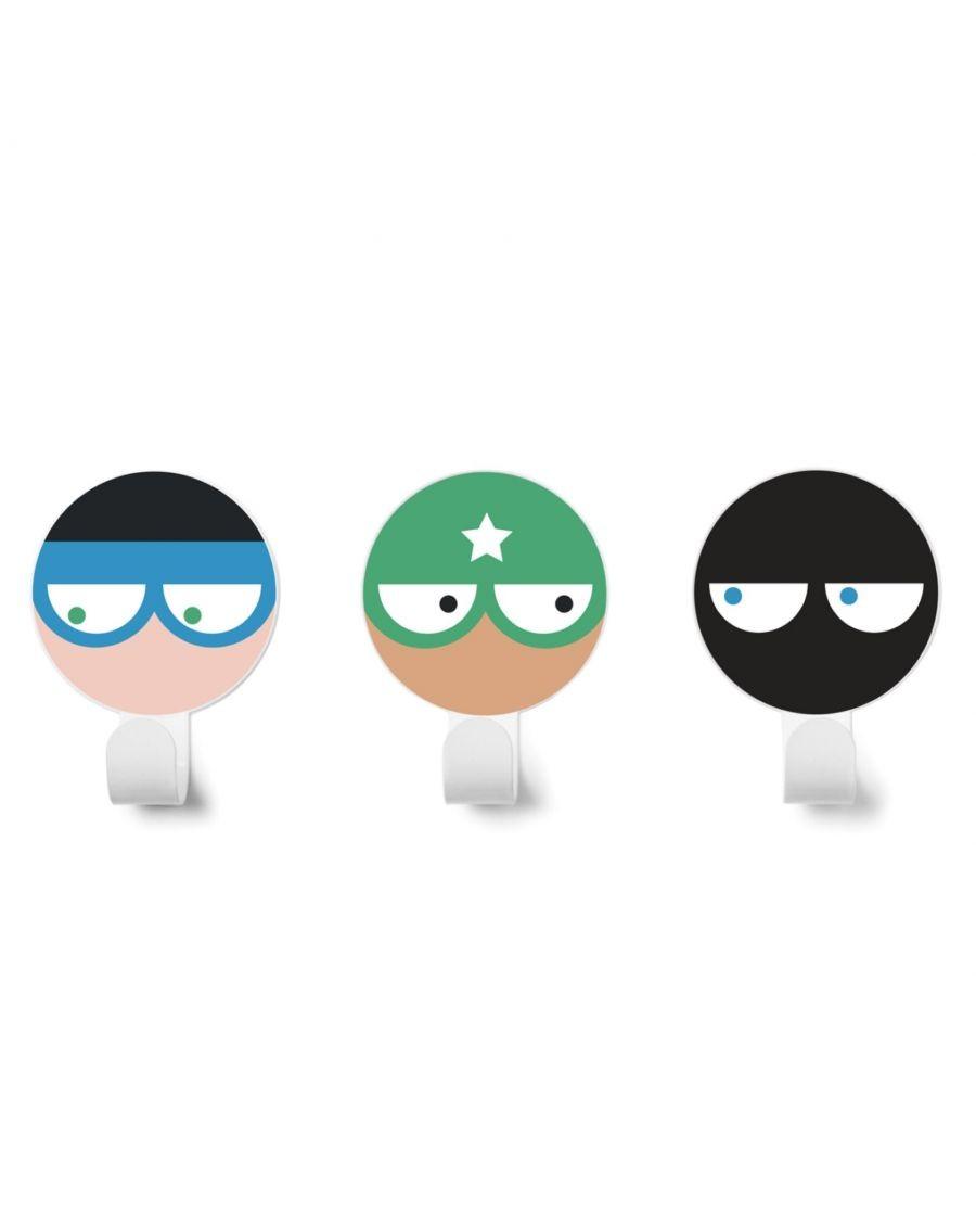 Wall hanger Heroes - Kit of 3 - v1 - kids - tresxics - MyloWonders