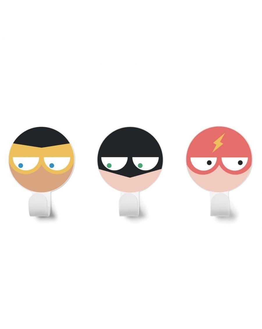 Patères super-héros - Kit de 3 - v2 - kids - tresxics - MyloWonders