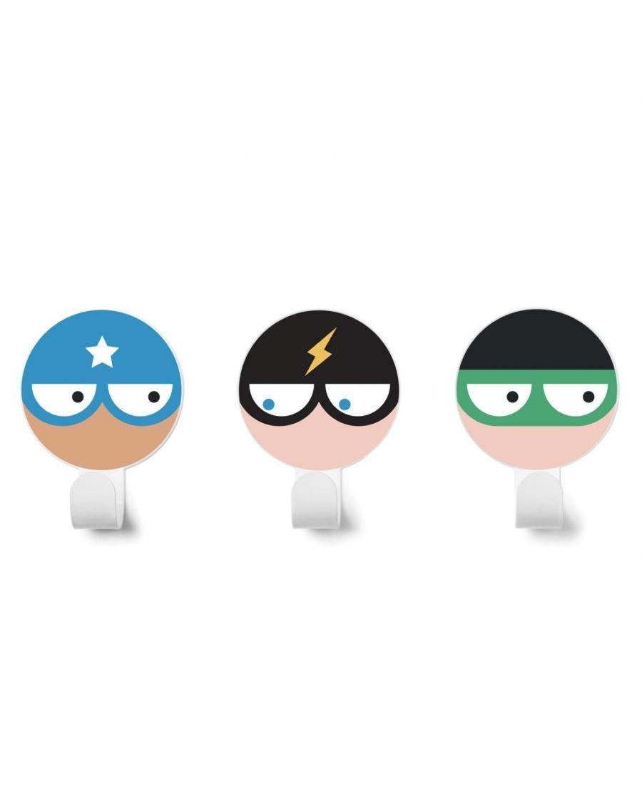 Patères super-héros - Kit de 3 - v3- kids - tresxics - MyloWonders