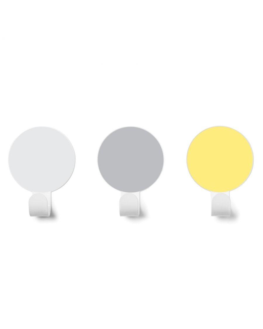Wall hooks - Yellow / Grey / White - kids - tresxics - MyloWonders