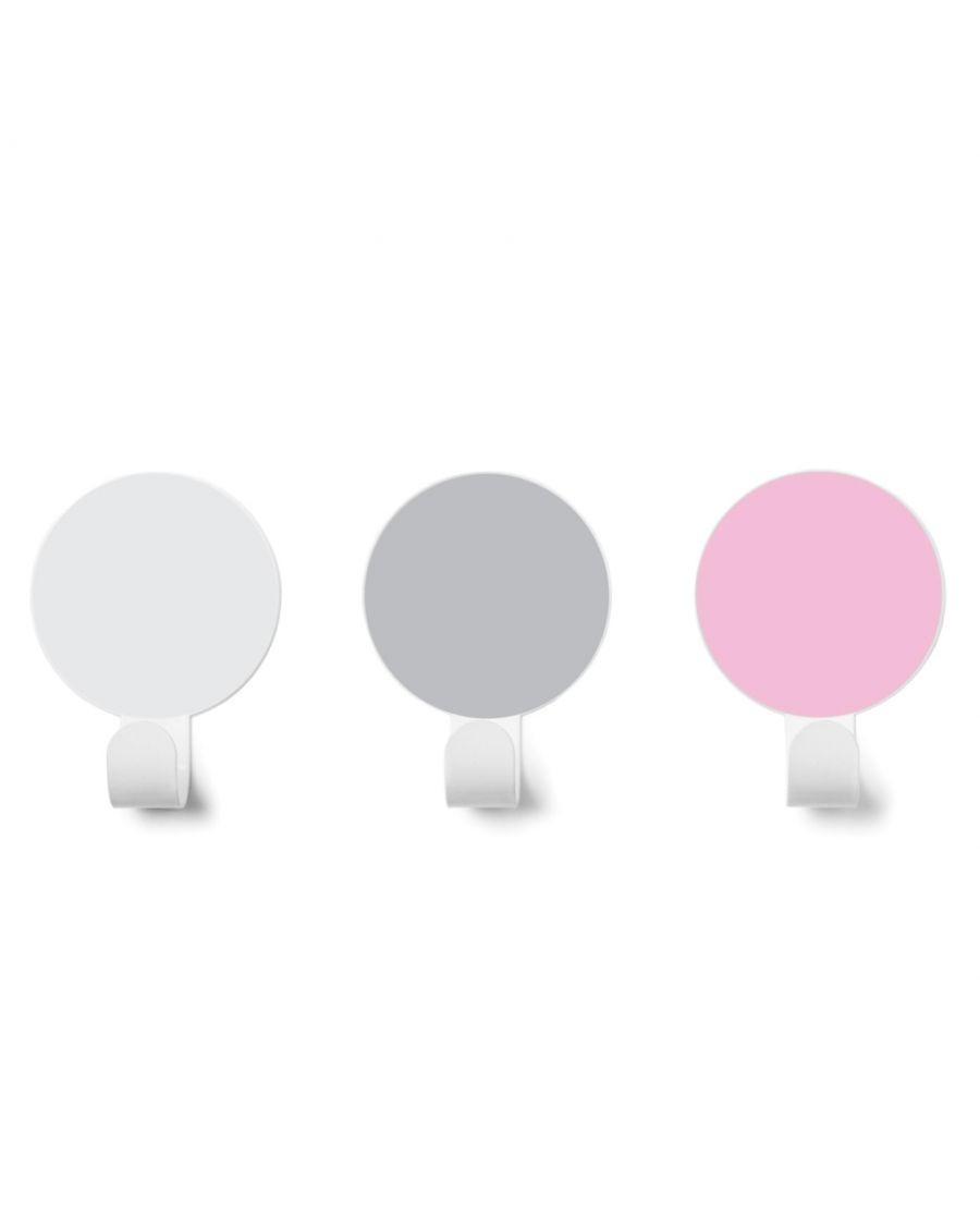 Patères - Rose / Gris / Blanc - kids - tresxics - MyloWonders