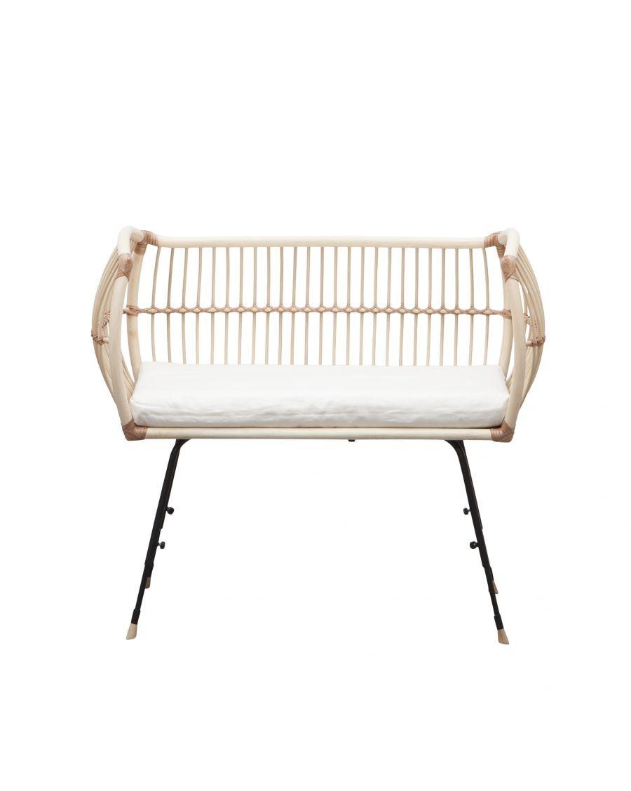 Handmade rattan bedside cot - Martha - Bermbach | MyloWonders
