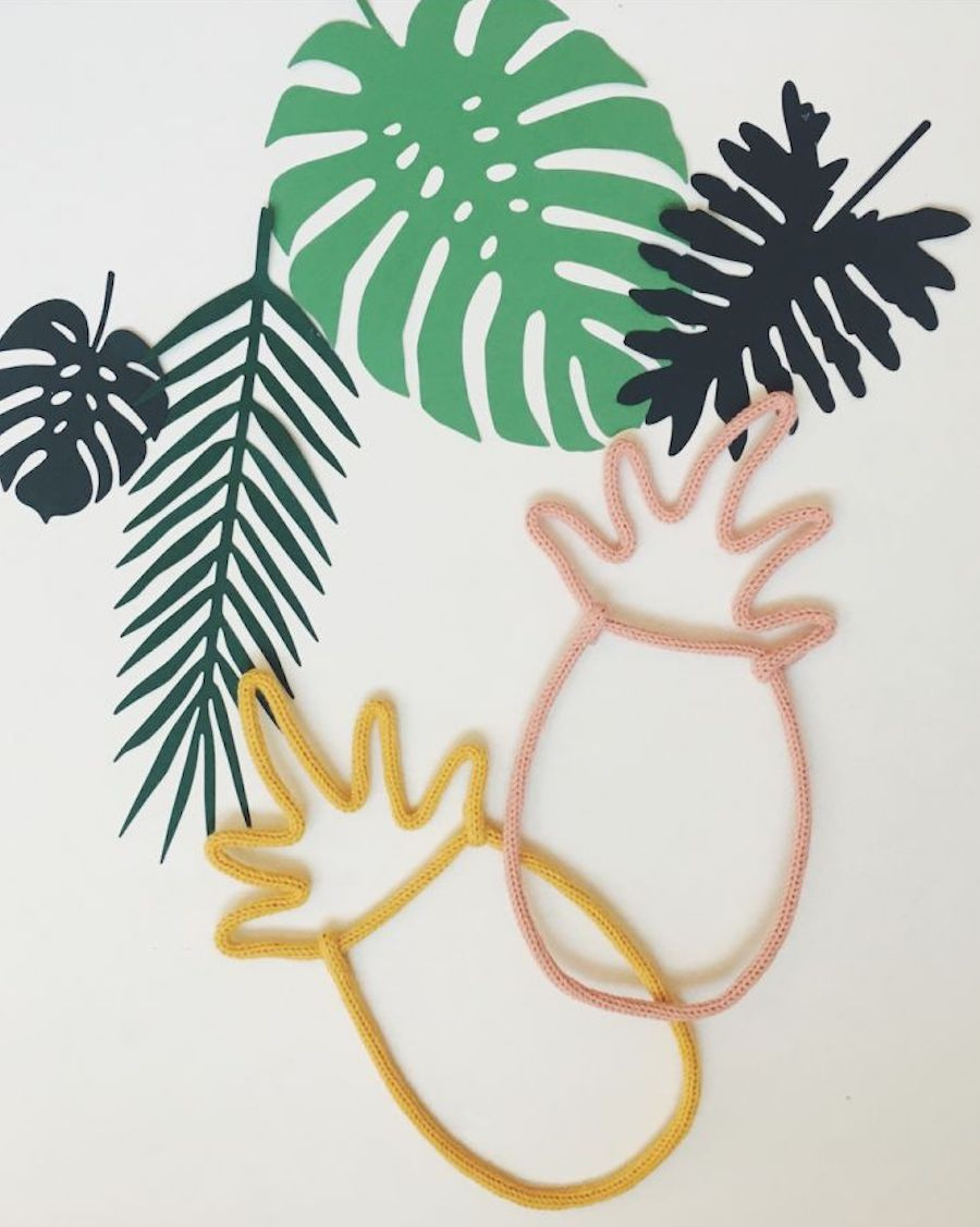 Ananas - Décoration murale en tricotin | Charlie & June | MyloWonders