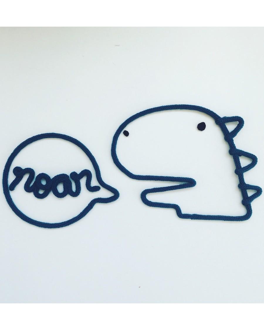 Dinosaure - Décoration murale en tricotin | Charlie & June | MyloWonders