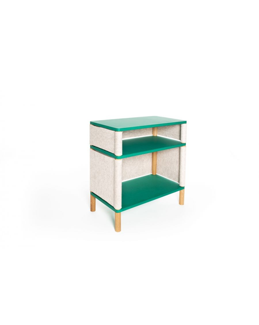 Combi Bookshelf - Montessori Inspired Green - Teo Victor | Coclico | MyloWonders