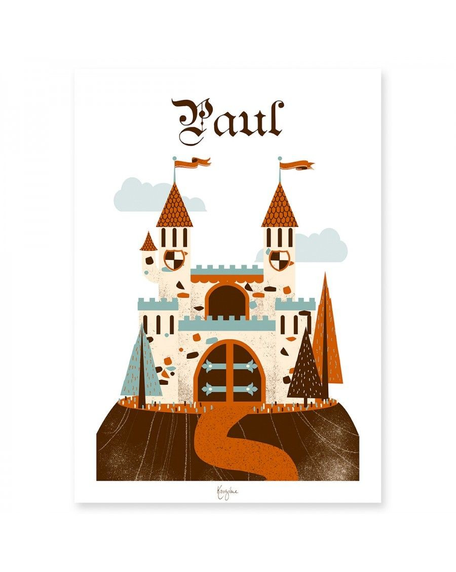 Customizable Poster - Knight collection - Castle | Kanzilue | MyloWonders