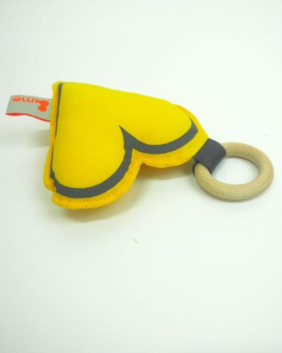 Anneau de dentition coeur - jaune - MyloWonders