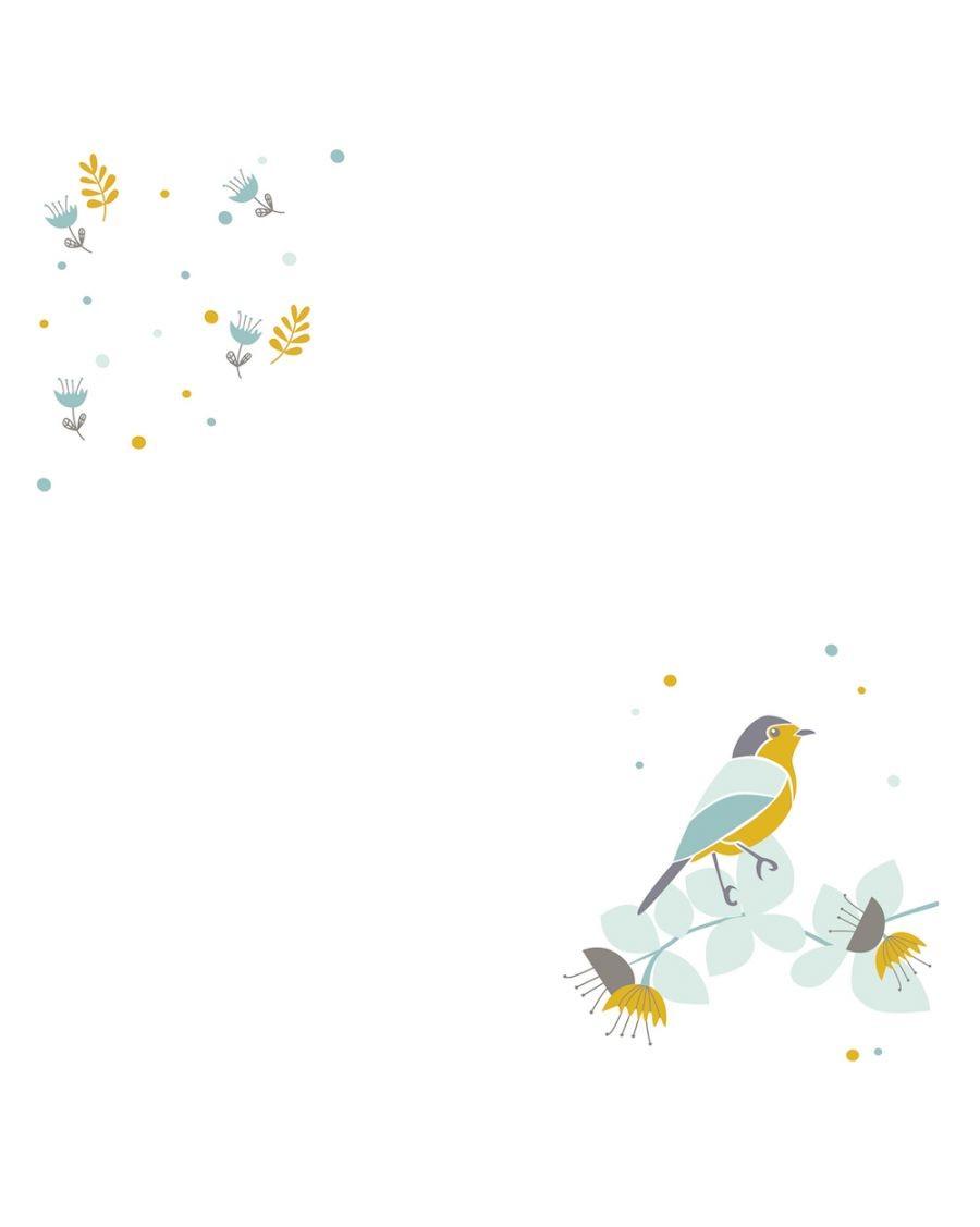Maxi Swaddle - Blue bird - MyloWonders