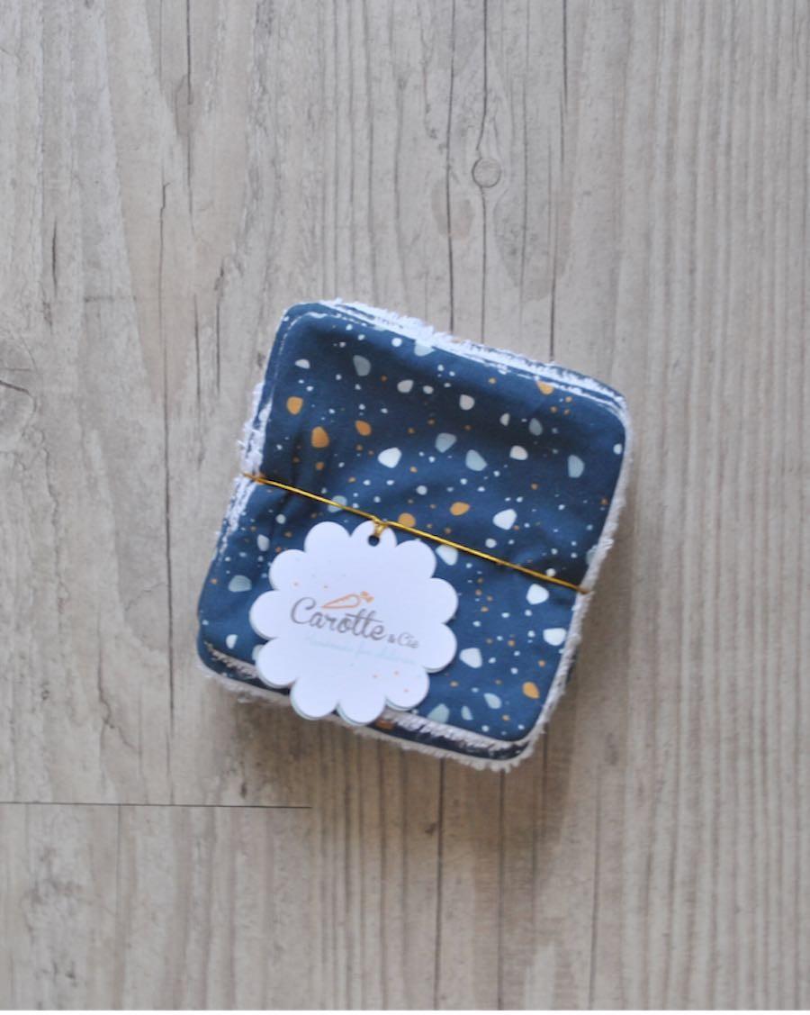 Lot de 10 lingettes lavables Granite - Carotte Cie - MyloWonders