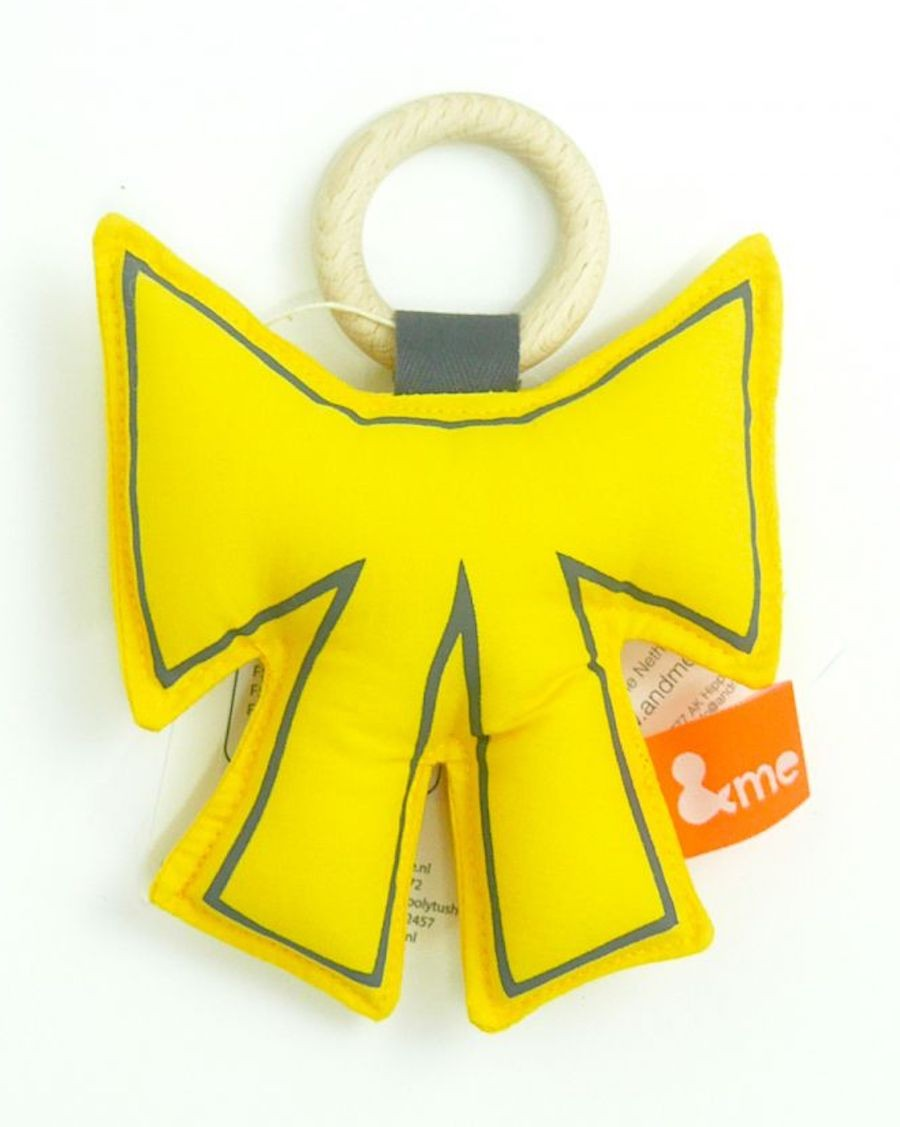 Bow teether yellow - MyloWonders