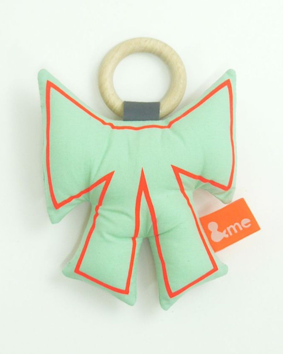 Bow teether mint and orange - MyloWonders