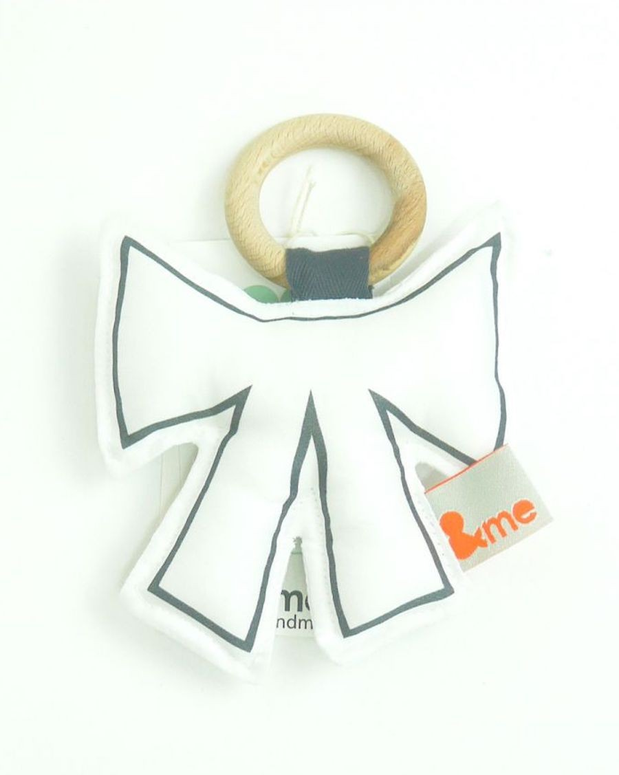 Bow teether white - MyloWonders
