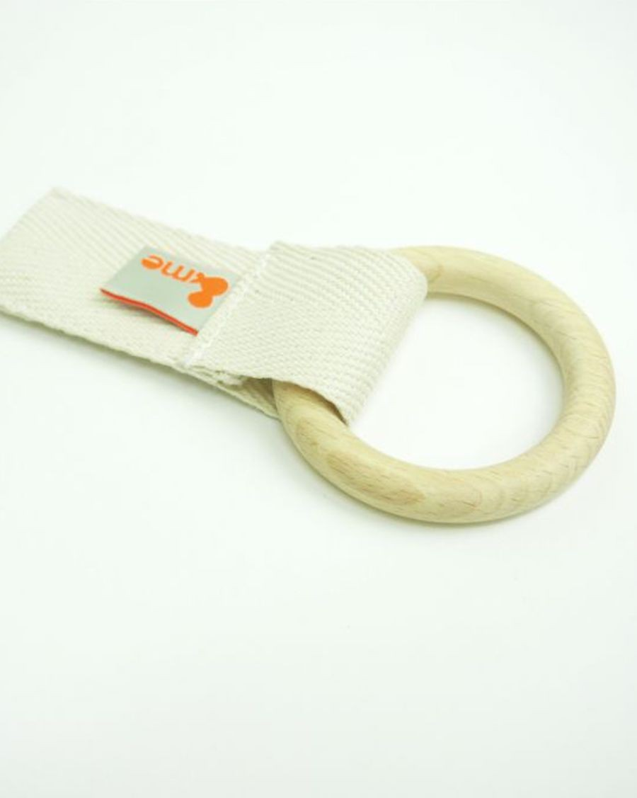 Wood and white teether - MyloWonders