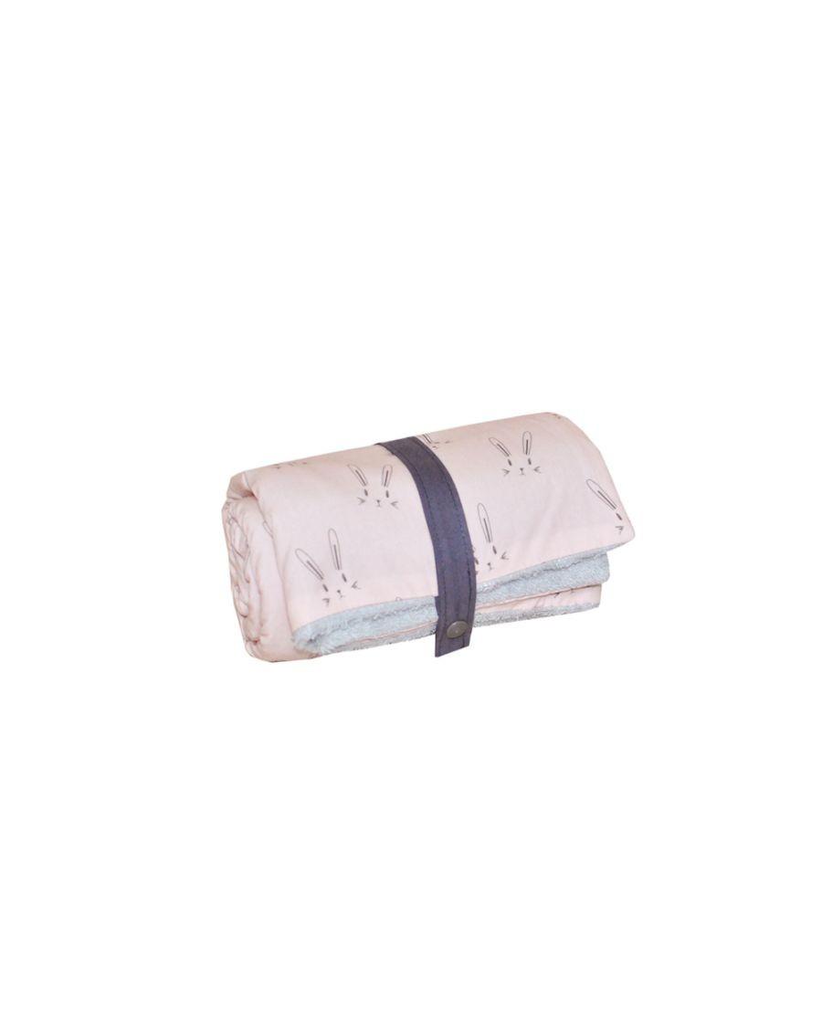 Changing mat - Pink rabbits - blanket - Carotte Cie - MyloWonders