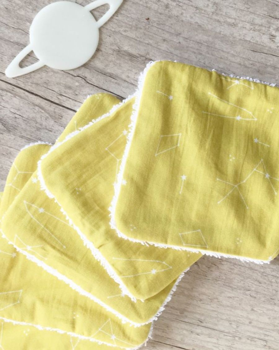 10 washable wipes - Constellation - Carotte Cie - MyloWonders
