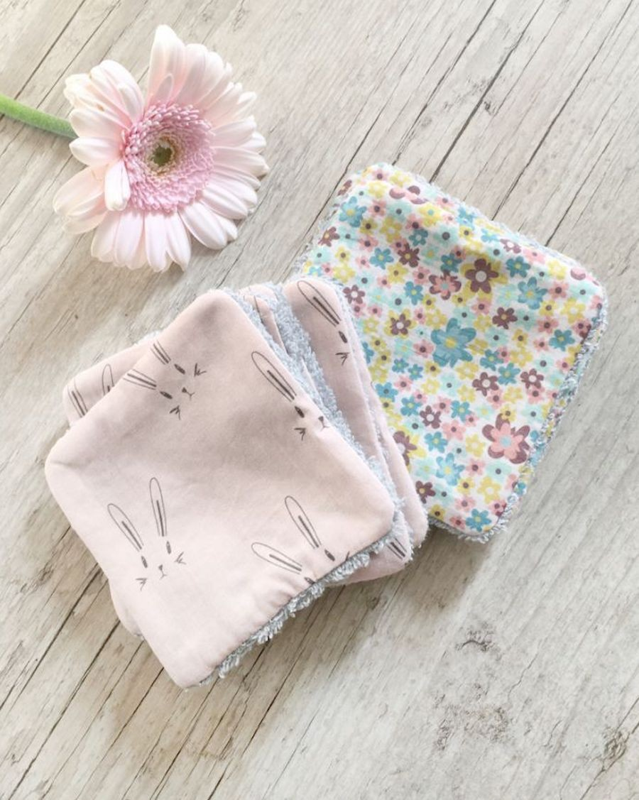 Mix of 10 washable wipes - Liberty & Rabbit - Carotte Cie - MyloWonders