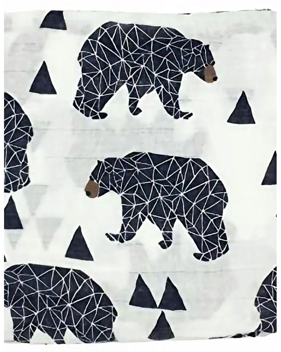 Organic Swaddle Blanket Bear - mama siesta - mylowonders