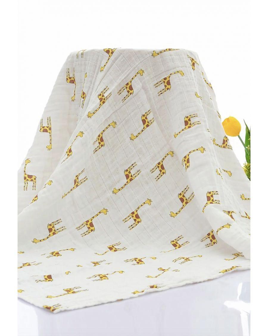 Organic Swaddle Blanket Giraffe - mama siesta - mylowonders
