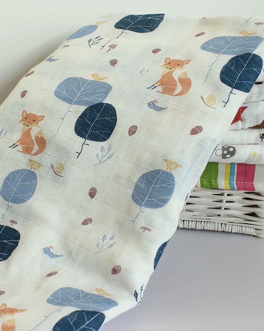 Lange en coton bio Renard - mama siesta - mylowonders