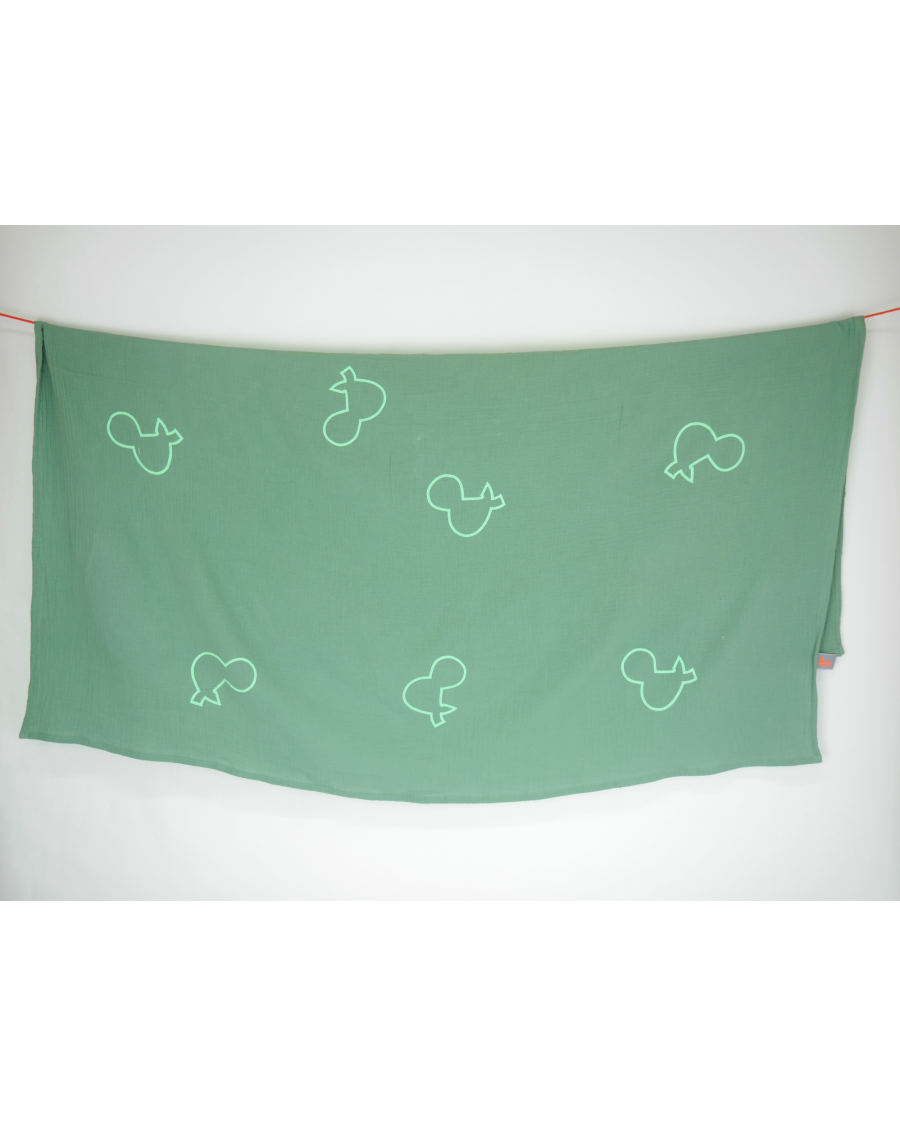 Light mint swaddle with big & mint