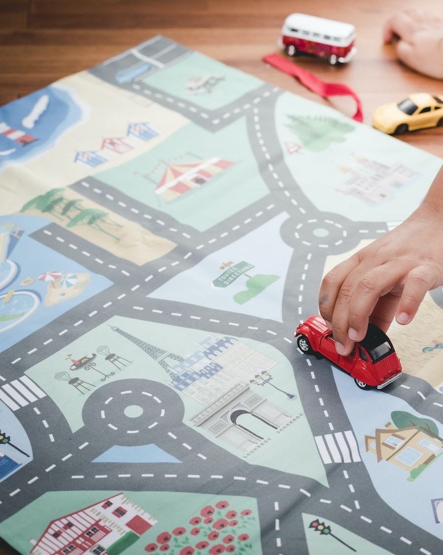 My little cars in France play mat - Sabristi - MyloWonders