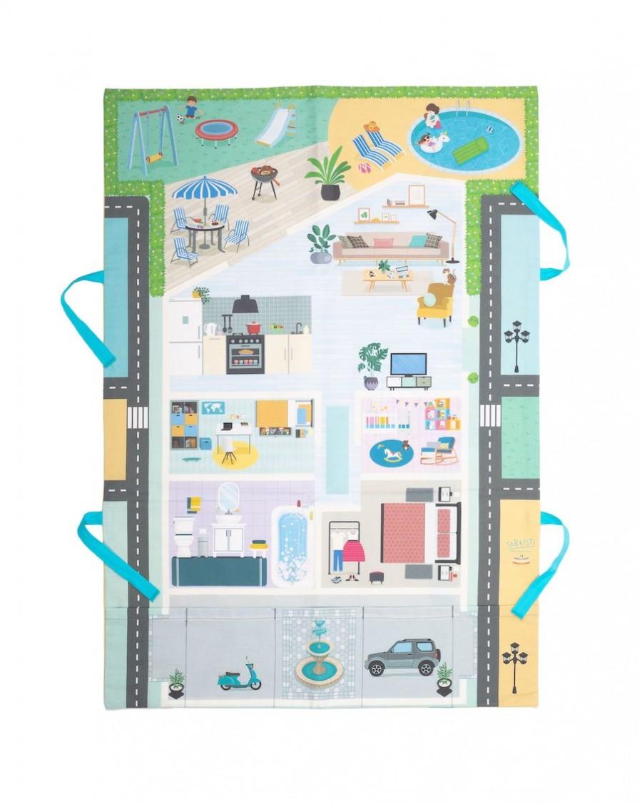 Tapis de jeu mes petites voitures - Bienvenue à la maison - Sabristi - MyloWonders