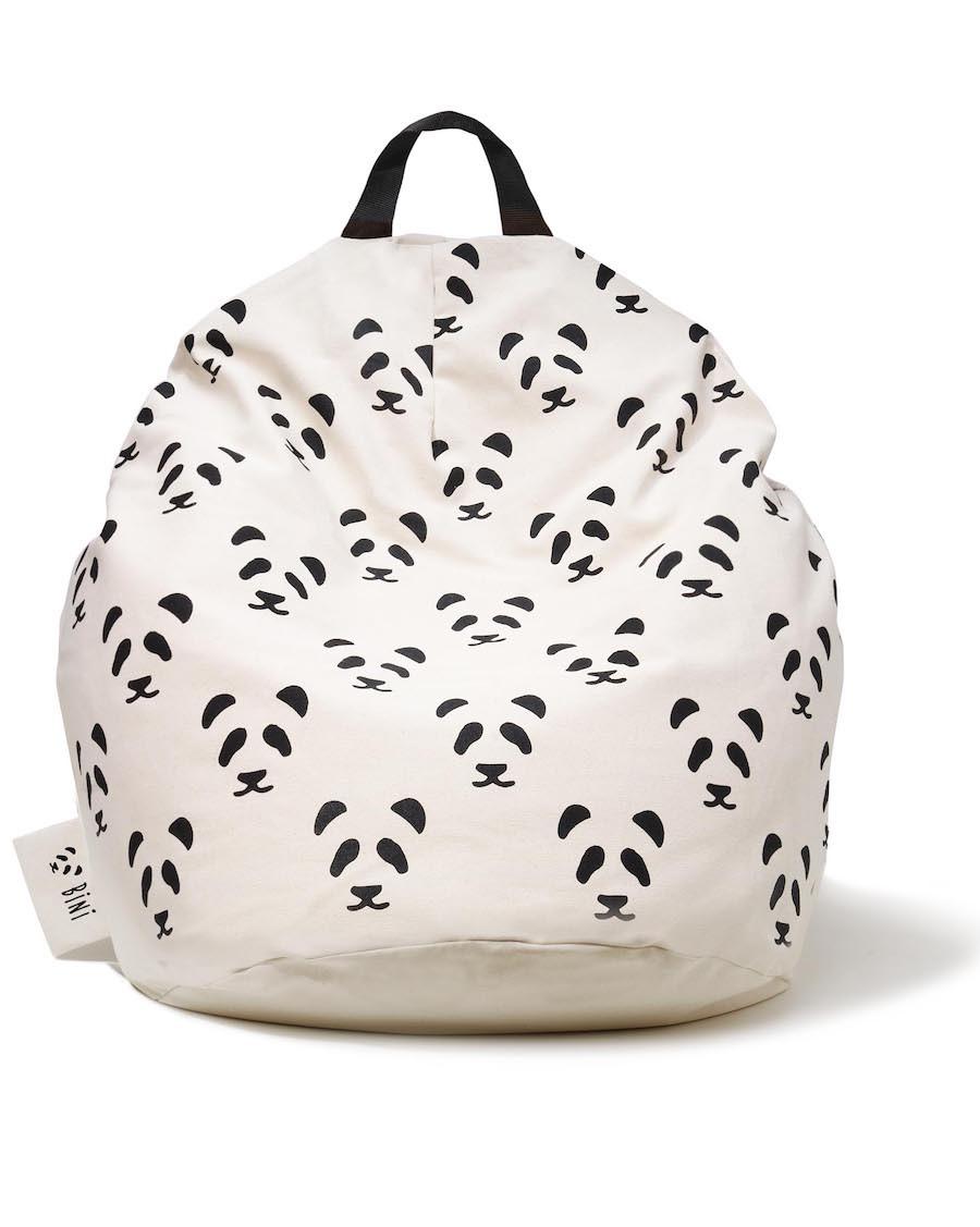 Double Pandas Bini Pouffe | MyloWonders