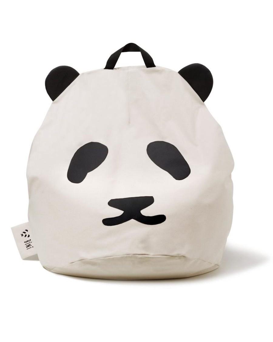 Pouf Panda Bini Original - poignée noire | MyloWonders