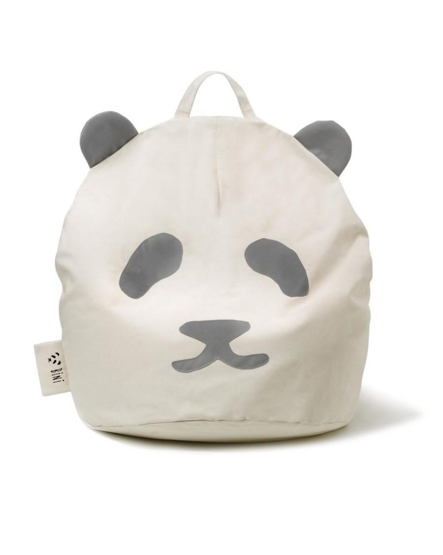 Panda Bini Pouffe Original - Grey | MyloWonders