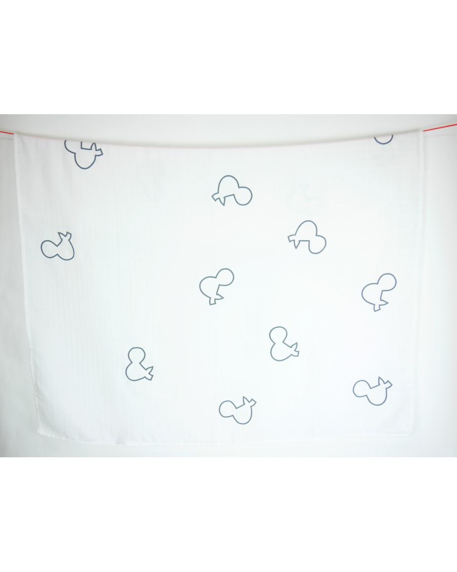 Lange blanc motif &