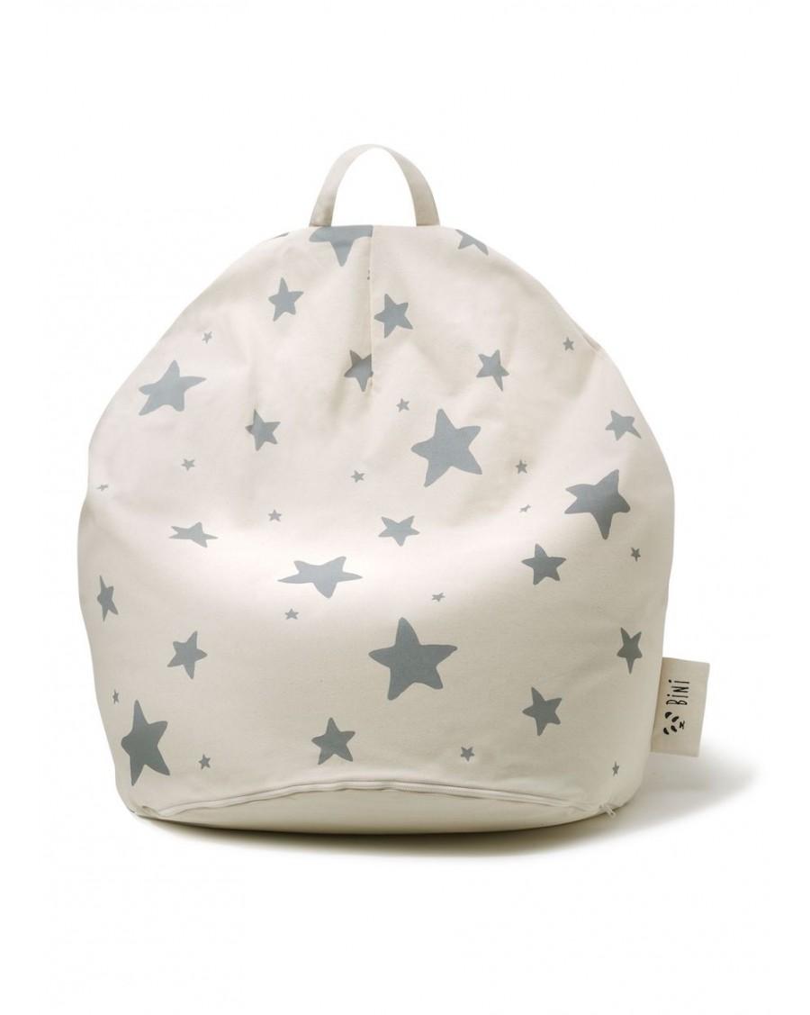 Double Stars Bini Pouffe - Grey | MyloWonders
