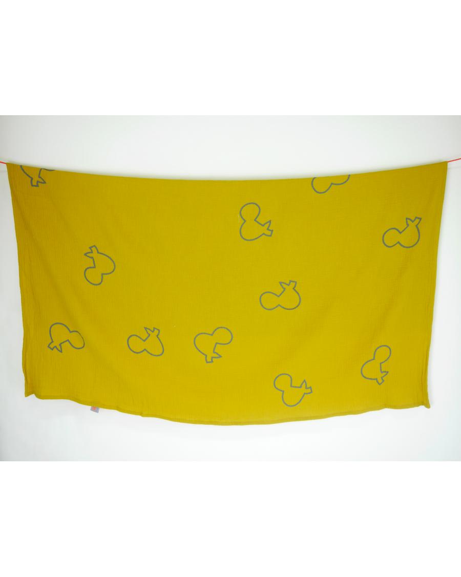 """Lange jaune motif """"&"""""""