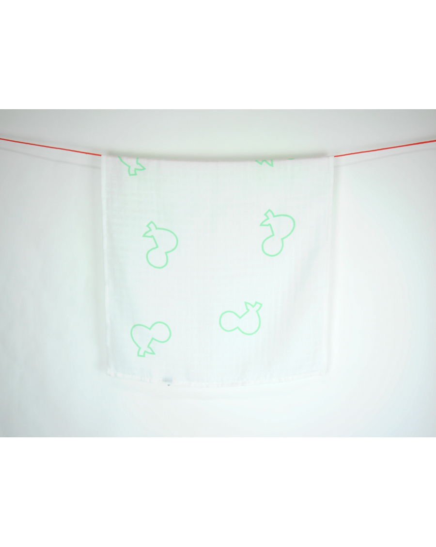 "White muslin with mint ""&"""